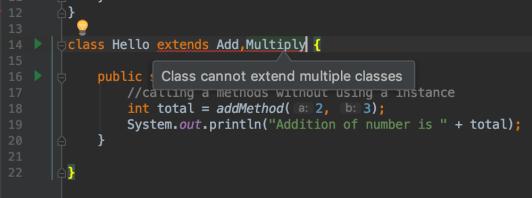 Java extends multiple classes error