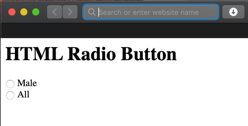 How to html radio button label same line?