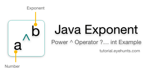 Java Exponent Power Operator Examples