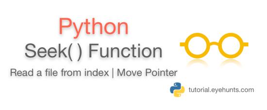 Python file seek function