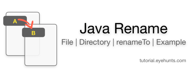 Java Rename File, directory with Example code