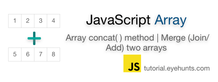 JavaScript array concat | Method | Merge (add) two Arrays - EyeHunts