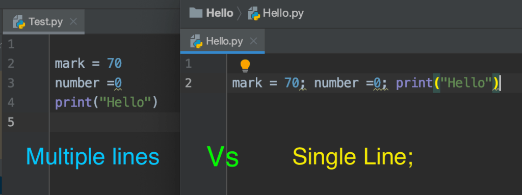 Multiple Statements on a Single Line