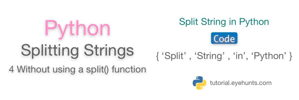Python split String Without split() Function