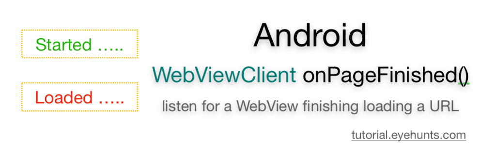 WebViewClient onPageFinished listen for a WebView finishing loading a URL
