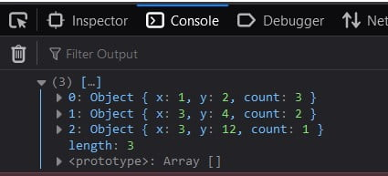 JavaScript count duplicates in an Array of objects