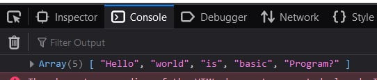 JavaScript split a string into an Array