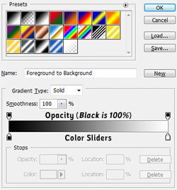 Photoshop\'s Gradient Editor
