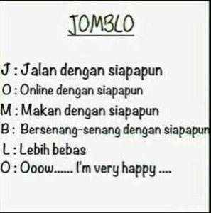DP BBM Jomblo happy