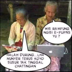Meme lucu nenek gaul terbaru