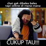 Kumpulan Meme Nunggu Balesan Lucu Kocak Gokil Terbaru, Buat DP BBM