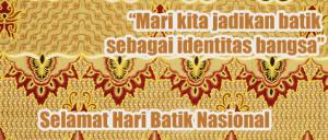 gambar ucapan hari batik nasional