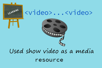 HTML video tag