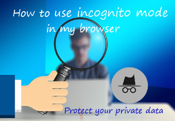 use incognito mode