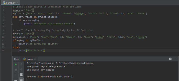 How to Check If Key Exists In Dictionary Using Python