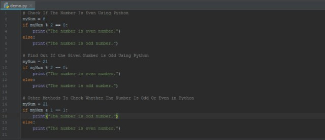 How To Check If The Number Is Even Or Odd In Python