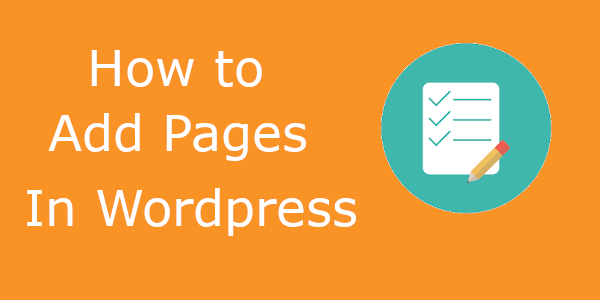 Add new pages in WordPress
