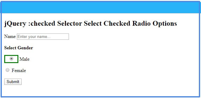 jQuery :checked Selector