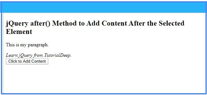jquery-after-method