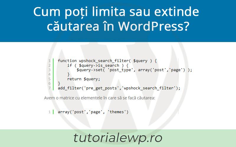 Cum poți limita căutarea în WordPress?