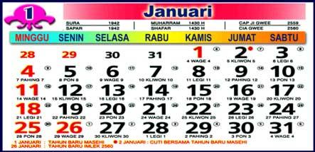 Kalender Januari 2009