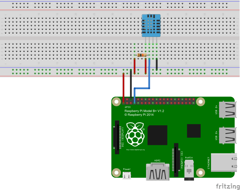 medium resolution of raspberry pi humidity temperature sensor construction