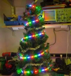 raspberry pi ws2801b weihnachtsbaumbeleuchtung [ 800 x 1200 Pixel ]