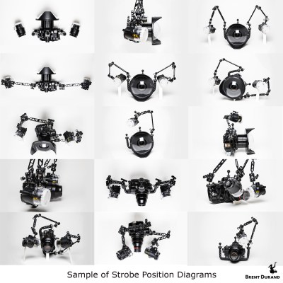 underwater Strobe Position diagrams