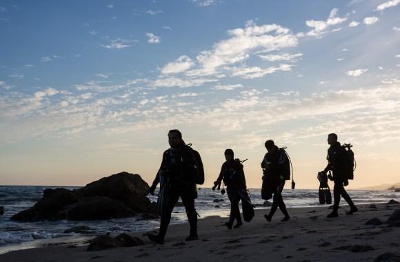 california beach and shore scuba diving
