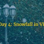snow effect in vr
