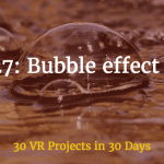 bubble effect using environment maps in webvr