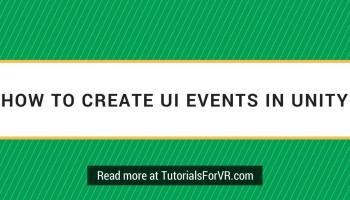 Creating a Gaze Based UI for Gear VR in Unity VR Tutorials