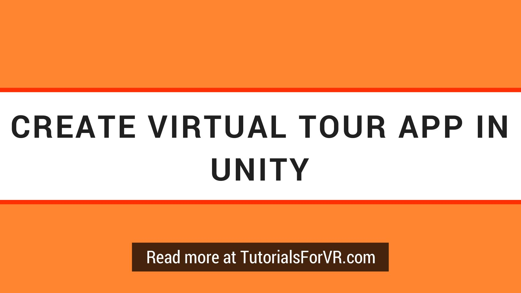 Create Virtual Tour App in Unity with Hotspots in VR VR