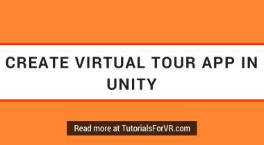 create virtual tour app in Unity