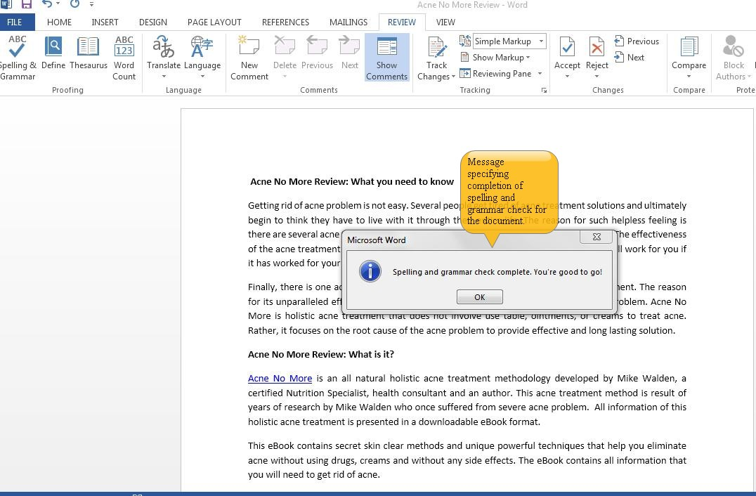 Using Spelling & Grammar Check in Word 2013 | Tutorials Tree: Learn Photoshop. Excel. Word. Powerpoint and WordPress for free online.