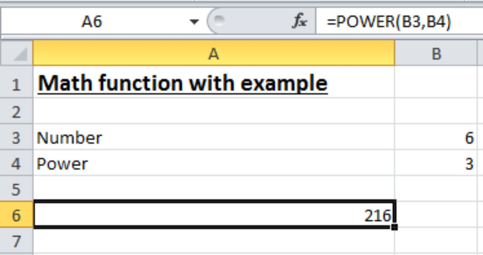 Math Functions In Excel Wizapps