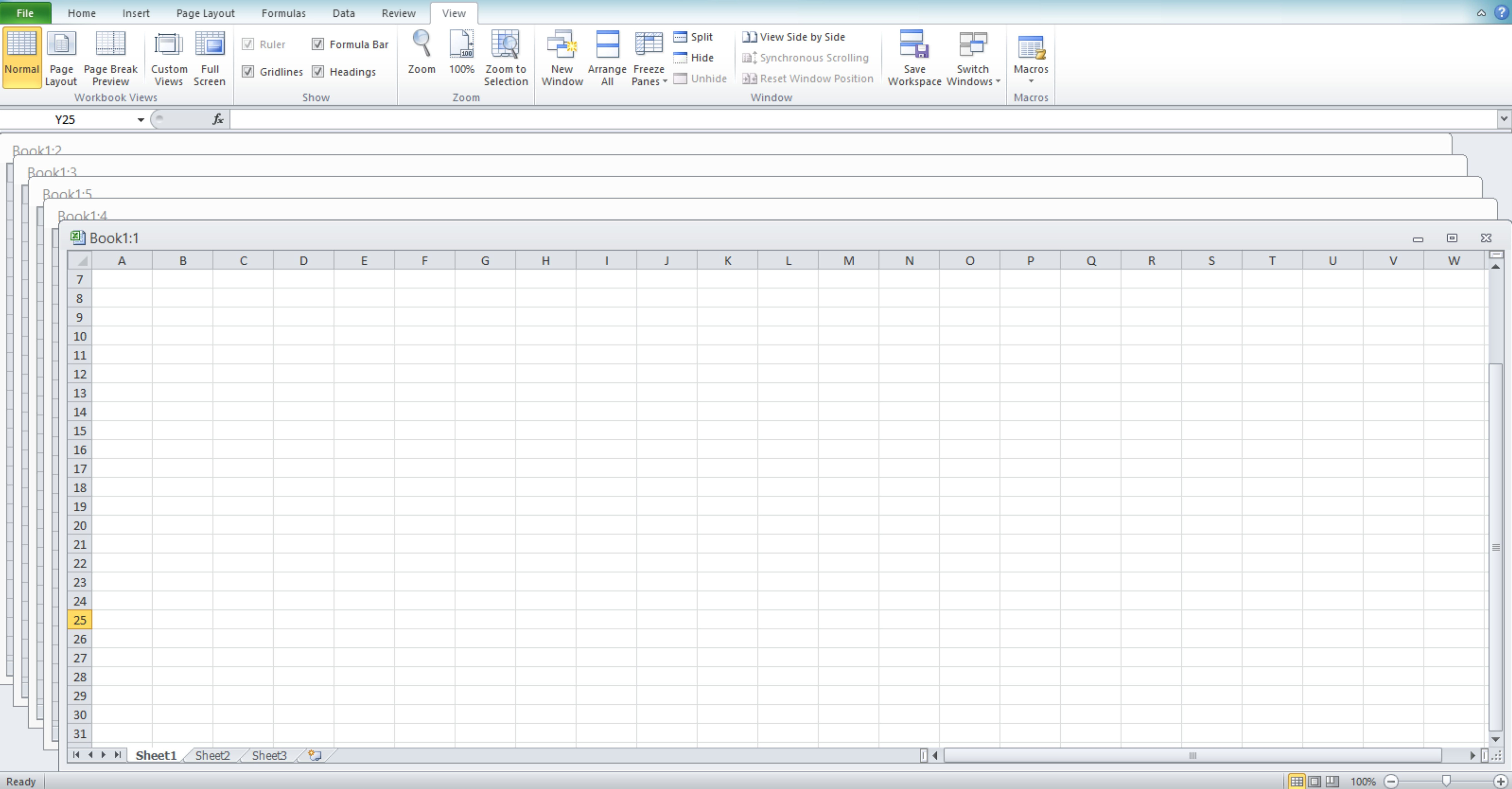 Window View In Excel Wizapps