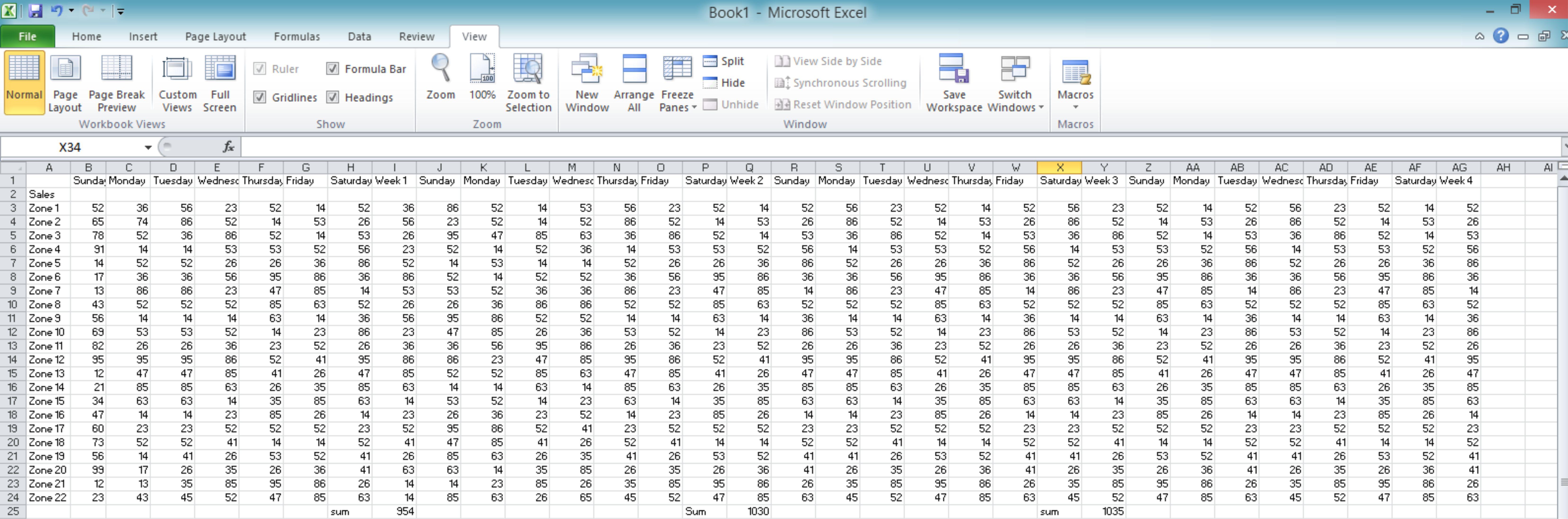 Window View In Excel Wizapps