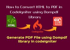 How to Convert HTML to PDF in CodeIgniter using Dompdf Library