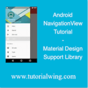 Tutorialwing Android NavigationView image