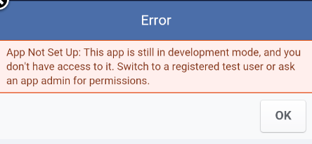 Tutorialwing - android facebook integration public access error