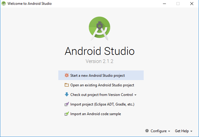 Tutorialwing - Android Studio New Project Step-1