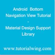 Tutorialwing - Android Bottom Navigation View tutorial logo