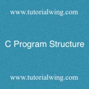 Tutorialwing - C program Structure