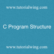 Tutorialwing - C program Structure