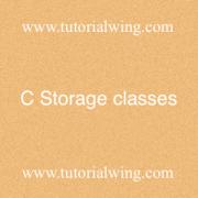 Tutorialwing - C Storage classes c storage class