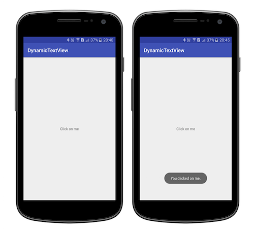 Tutorialwing Dynamic TextView Tutorial Output Create TextView programmatically in android