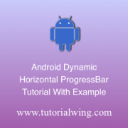 Tutorialwing Android Horizontal Progressbar Logo create android horizontal progressbar programmatically