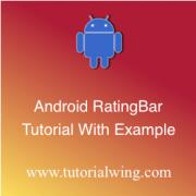 Tutorialwing Android RatingBar Widget tutorial logo Android RatingBar tutorial