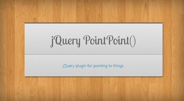 jQuery PointPoint - A Plugin For Pointing To Things - Tutorialzine